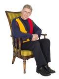 Παλαιό πορτρέτο ατόμων τρίτης ηλικίας ατόμων ηλικιωμένο που απομονώνεται Στοκ Εικόνες