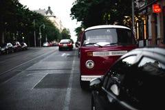 Παλαιό πορφυρό φορτηγό Στοκ Εικόνα