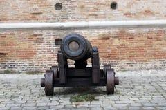 Παλαιό πολεμικό πυροβόλο στην Αγκώνα, Marche, Ιταλία Στοκ Φωτογραφία