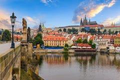 παλαιό Πράγα ταξίδι οριζόντων της Ευρώπης Στοκ Εικόνα