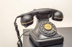 Παλαιό πρότυπο του εγχώριου τηλεφώνου Στοκ Εικόνα