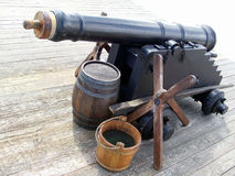 Παλαιό πυροβόλο οχυρών Στοκ εικόνα με δικαίωμα ελεύθερης χρήσης