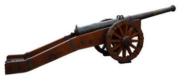 Παλαιό πυροβόλο που απομονώνεται στο άσπρο υπόβαθρο Στοκ Εικόνα