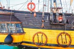 Παλαιό πλέοντας γιοτ ιστών σκαφών Στοκ φωτογραφία με δικαίωμα ελεύθερης χρήσης