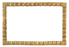 Παλαιό πλαίσιο, αναδρομικό πλαίσιο, ξύλινο χρυσό βικτοριανό πλαίσιο isolat Στοκ Εικόνα