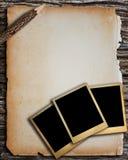 Παλαιό πλαίσιο εγγράφου και φωτογραφιών Στοκ φωτογραφία με δικαίωμα ελεύθερης χρήσης