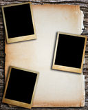 Παλαιό πλαίσιο εγγράφου και φωτογραφιών Στοκ Εικόνες