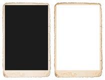 Παλαιό πλαίσιο φωτογραφιών με τις άκρες Πρότυπο για τις εικόνες σας Στοκ εικόνες με δικαίωμα ελεύθερης χρήσης