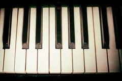 Παλαιό πληκτρολόγιο πιάνων Στοκ Εικόνες