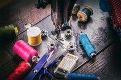 παλαιό ράψιμο μηχανών Στοκ Εικόνες