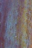 Παλαιό, ραβδωμένο, χρωματισμένο και ξεπερασμένο υπόβαθρο μετάλλων Στοκ εικόνες με δικαίωμα ελεύθερης χρήσης