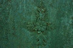 Παλαιό ραγισμένο πράσινο χρώμα Στοκ Εικόνες