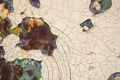 Παλαιό ραγισμένο χρώμα και σκουριασμένος Στοκ φωτογραφίες με δικαίωμα ελεύθερης χρήσης