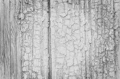 Παλαιό ραγισμένο χρώμα στο ξύλο Στοκ φωτογραφία με δικαίωμα ελεύθερης χρήσης