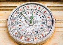 Παλαιό ρολόι στον καθεδρικό ναό του ST Paul σε Mdina, Μάλτα Στοκ φωτογραφίες με δικαίωμα ελεύθερης χρήσης