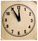 Παλαιό ρολόι χαρτονιού Στοκ Φωτογραφίες