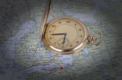 παλαιό ρολόι χαρτών Στοκ Εικόνα