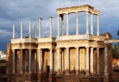 Παλαιό ρωμαϊκό θέατρο στο Μέριντα Στοκ εικόνα με δικαίωμα ελεύθερης χρήσης