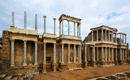 Παλαιό ρωμαϊκό θέατρο στο Μέριντα Στοκ Εικόνες