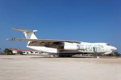 Παλαιό ρωσικό αεροπλάνο μεταφοράς εμπορευμάτων Ilyushin IL 76 Στοκ Φωτογραφίες