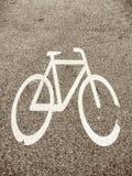 Παλαιό σημάδι ποδηλάτων Στοκ φωτογραφίες με δικαίωμα ελεύθερης χρήσης