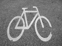Παλαιό σημάδι 3 ποδηλάτων Στοκ Φωτογραφία