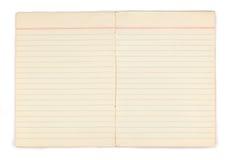 Παλαιό σημειωματάριο με τις κενές κίτρινες σελίδες Στοκ εικόνα με δικαίωμα ελεύθερης χρήσης