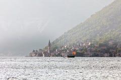 παλαιό σκάφος πανιών ομίχλης Στοκ Φωτογραφία