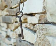 Παλαιό σκουριασμένο κλειδί Στοκ Φωτογραφία