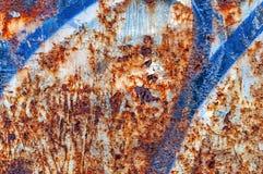 Παλαιό σκουριασμένο πορτοκαλί και μπλε αφηρημένο υπόβαθρο Στοκ Εικόνες