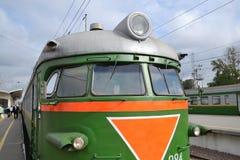 Παλαιό σοβιετικό ηλεκτρικό τραίνο Στοκ Εικόνες