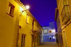 Παλαιό σούρουπο του χωριού ηλιοβασιλέματος Denia στην Αλικάντε Ισπανία Στοκ φωτογραφία με δικαίωμα ελεύθερης χρήσης