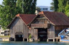 Παλαιό σπίτι βαρκών στη λίμνη Zug Στοκ φωτογραφίες με δικαίωμα ελεύθερης χρήσης