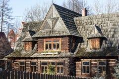 Παλαιό σπίτι κατοικιών σε Zakopane Στοκ φωτογραφία με δικαίωμα ελεύθερης χρήσης