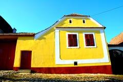 Παλαιό σπίτι σε Viscri, Τρανσυλβανία, Ρουμανία στοκ φωτογραφία