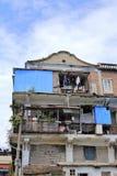 Παλαιό σπίτι στο λιμάνι αλιείας shapowei Στοκ Εικόνες