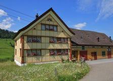 Παλαιό σπίτι στο καντόνιο Appenzell Στοκ Εικόνες