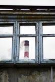 Παλαιό σπασμένο παράθυρο Στοκ Εικόνα