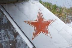 Παλαιό σπασμένο πράσινο ρωσικό αεροπλάνο Στοκ φωτογραφίες με δικαίωμα ελεύθερης χρήσης