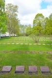 Παλαιό στρατιωτικό νεκροταφείο σε Lappeenranta Στοκ Φωτογραφίες
