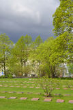 Παλαιό στρατιωτικό νεκροταφείο σε Lappeenranta Στοκ Εικόνες