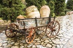 Παλαιό συρμένο άλογο ξύλινο κάρρο Στοκ φωτογραφία με δικαίωμα ελεύθερης χρήσης