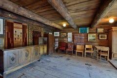 Παλαιό σχέδιο καταστημάτων της Φινλανδίας Porvoo Στοκ Εικόνες