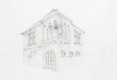 Παλαιό σχεδιάγραμμα σπιτιών Στοκ Εικόνα