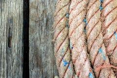 Παλαιό σχοινί σκαφών Στοκ φωτογραφίες με δικαίωμα ελεύθερης χρήσης