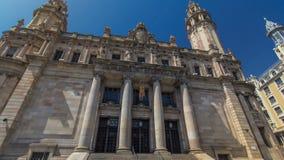 Παλαιό ταχυδρομείο timelapse hyperlapse, το διάσημο ορόσημο Βαρκελώνη, Ισπανία αρχιτεκτονικής φιλμ μικρού μήκους