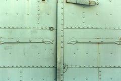 Παλαιό τεμάχιο πορτών σιδήρου Στοκ Φωτογραφίες