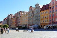 Παλαιό τετράγωνο πόλεων και αγοράς στην Πολωνία, Ευρώπη, WROCLAW, ΠΟΛΩΝΊΑ - 12 09 2016 Στοκ Εικόνα