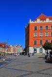 Παλαιό τετράγωνο πόλεων και αγοράς στην Πολωνία, Ευρώπη, WROCLAW, ΠΟΛΩΝΊΑ - 12 09 2016 Στοκ Φωτογραφίες