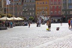 Παλαιό τετράγωνο πόλεων και αγοράς στην Πολωνία, Ευρώπη, WROCLAW, ΠΟΛΩΝΊΑ - 12 09 2016 Στοκ φωτογραφίες με δικαίωμα ελεύθερης χρήσης
